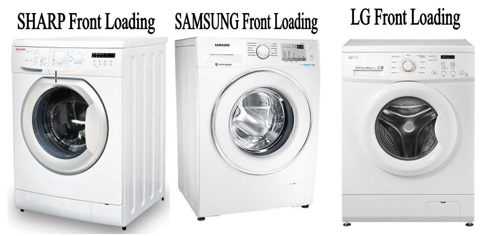 gambar mesin cuci front loading bukaan depan atau samping