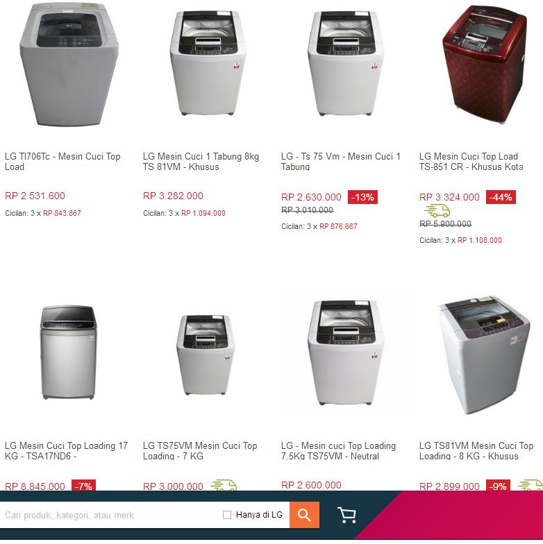 Daftar harga mesin cuci lg 1 tabung terbaru