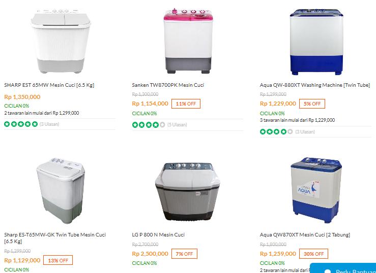 Daftar harga mesin cuci samsung 2 tabung terbaru