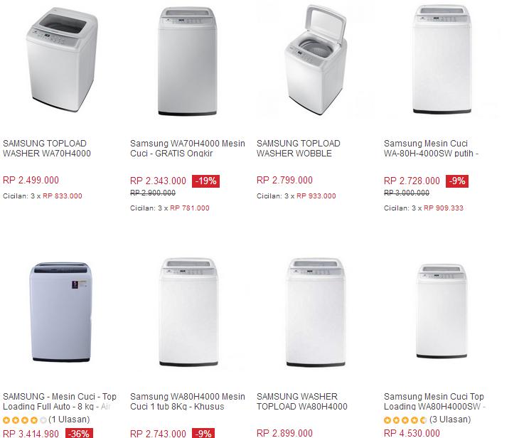 Harga mesin cuci samsun 1 tabung