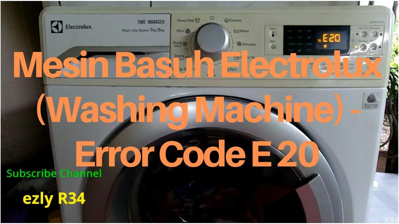 kode error mesin cuci electrolux e20